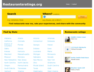 restaurantsratings.org screenshot