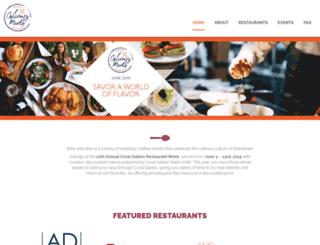 restaurantweek.shopcoralgables.com screenshot