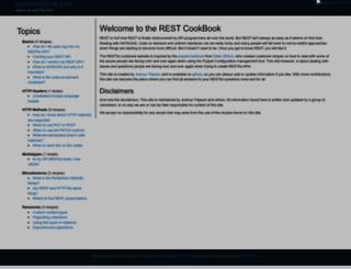 restcookbook.com screenshot