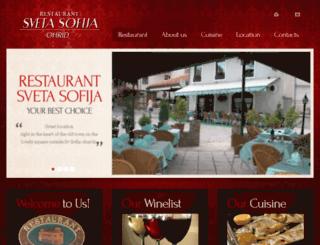 restoransvetasofija.com.mk screenshot