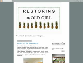 restoringtheoldgirl.blogspot.com screenshot