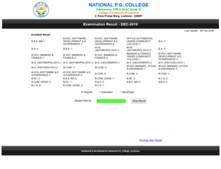 result.npgc.in screenshot
