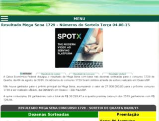 resultadomegasena.info screenshot