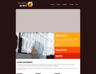 resultats-bac.info screenshot