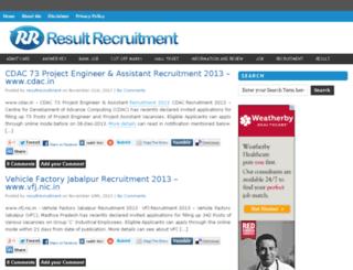 resultrecruitment.in screenshot