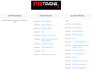 results.prtiming.com screenshot