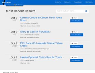 results.racemine.com screenshot