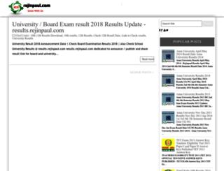 results.rejinpaul.com screenshot