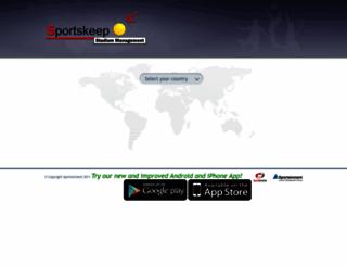 results.sportskeepglobal.com screenshot