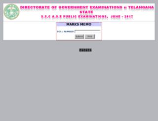 results2.bsetelangana.org screenshot