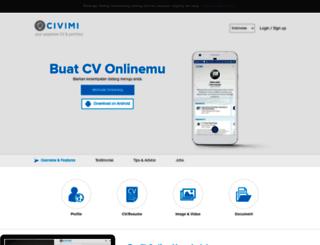 resume.civimi.com screenshot