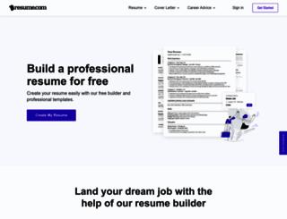 resume.com screenshot