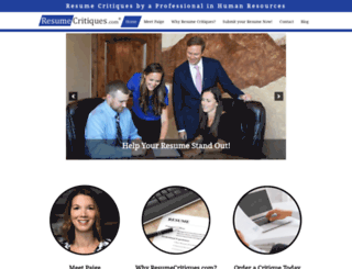 resumecritiques.com screenshot