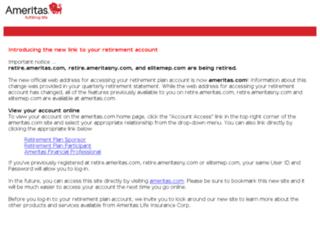 retire.ameritas.com screenshot