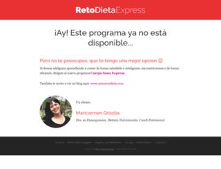 retodietaexpress.com screenshot