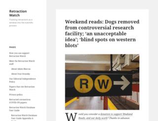 retractionwatch.wordpress.com screenshot