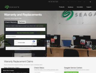 returns.seagate.com screenshot