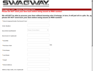 returns.swagway.com screenshot