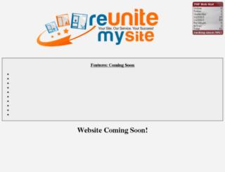 reunitemysite.com screenshot