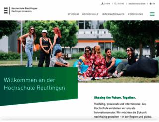 reutlingen-university.de screenshot