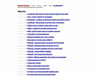 revathskumar.com screenshot