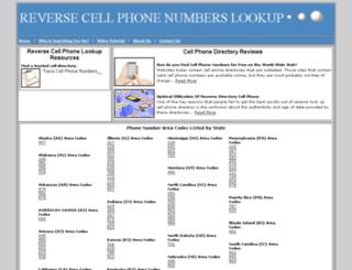 reversecellphonenumberslookup.com screenshot