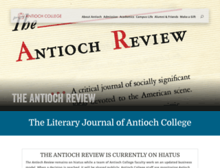 review.antiochcollege.org screenshot