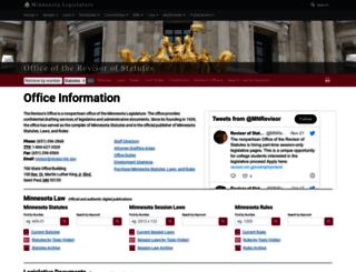revisor.mn.gov screenshot