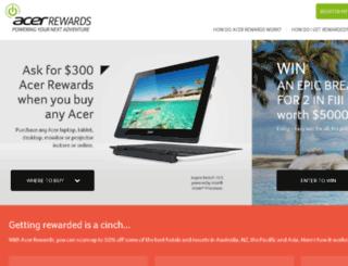 rewards.acer.com.au screenshot