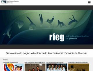 rfegimnasia.es screenshot