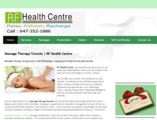 rfhealthcentre.com screenshot
