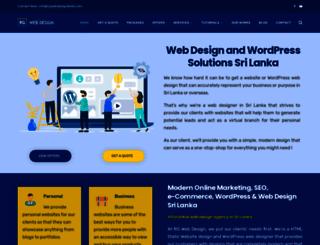 rgwebdesignlanka.com screenshot
