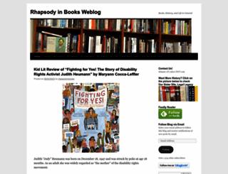 rhapsodyinbooks.wordpress.com screenshot