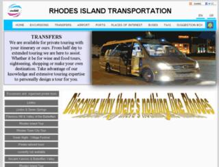 rhodes-transport.gr screenshot