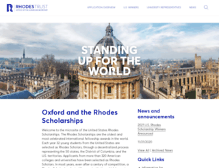 rhodesscholar.org screenshot