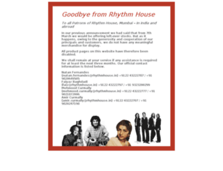 rhythmhouse.in screenshot