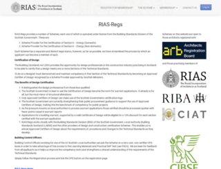 rias-regs.co.uk screenshot