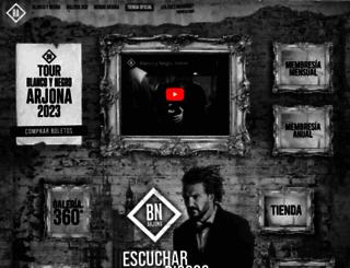 ricardoarjona.com screenshot