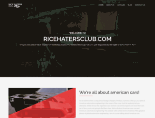 ricehatersclub.com screenshot