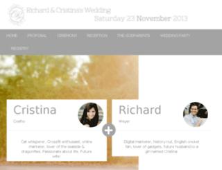 richardandcristinaswedding.co.za screenshot