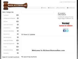 richauctionsonline.com screenshot