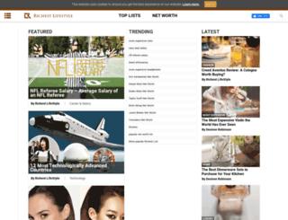 richestlifestyle.com screenshot
