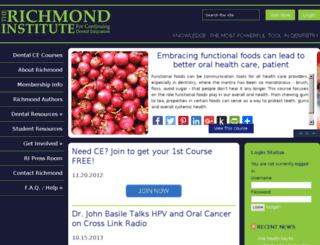 richmondinstitute.com screenshot