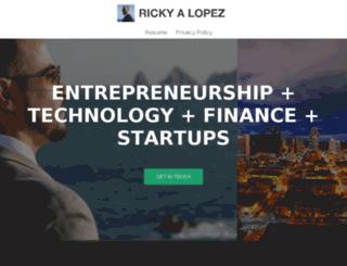 rickyalopez.com screenshot