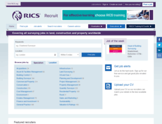 ricsrecruit.com screenshot