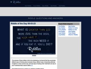 riddlesandanswers.com screenshot