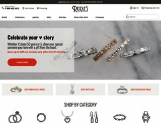 riddlesjewelry.com screenshot