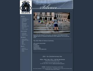 rideofsilence.org screenshot