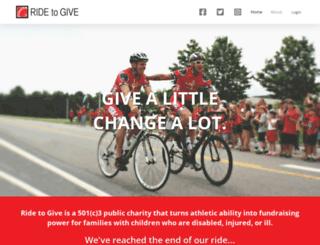 ridetogive.com screenshot