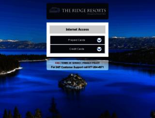 ridgeattahoeresort.hotelwifi.com screenshot